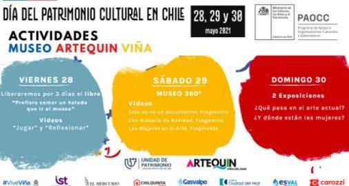Museo Artequin Viña de Mar , dia del patrimonio, museos, programa