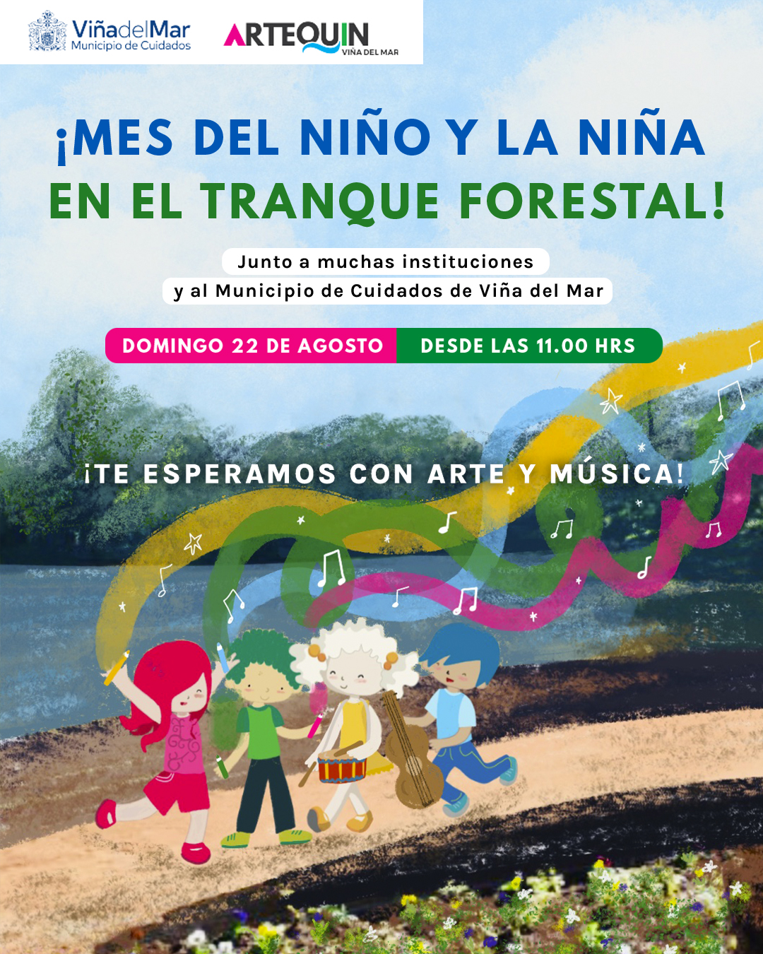 museo artequin viña dia del niño y niña tranque forestal